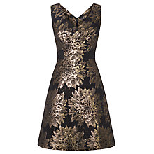 Buy Karen Millen Floral Jacquard Dress, Black/Multi Online at johnlewis.com