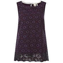 Buy White Stuff Phoenix Shell Top, Dark Purple Online at johnlewis.com