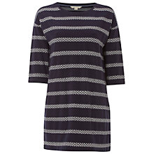 Buy White Stuff Memo Stripe Jersey Tunic Top, Deep Dusky Blue Online at johnlewis.com