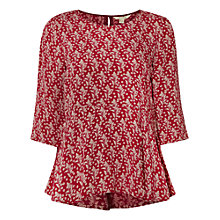 Buy White Stuff Spotty Fern Top, Mongolian Red Online at johnlewis.com