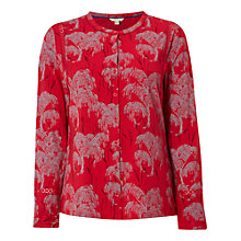 Buy White Stuff Whimsical Tree Jersey Shirt, Poppy Red Online at johnlewis.com