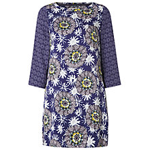 Buy White Stuff Sparkle Flower Tunic, Silk Blue Online at johnlewis.com