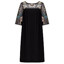 Buy Somerset by Alice Temperley Lily Embroidered Dress, Black Online at johnlewis.com