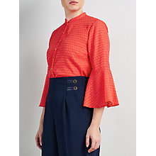 Buy Somerset by Alice Temperley Flock Ruffle Sleeve Blouse Online at johnlewis.com