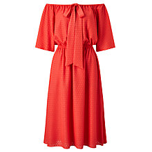Buy Somerset by Alice Temperley Flocked Off Shoulder Dress Online at johnlewis.com