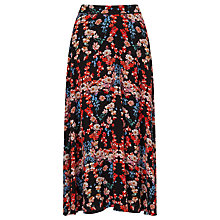Buy Somerset by Alice Temperley Peony Print Midi Skirt, Black Online at johnlewis.com