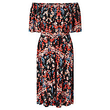 Buy Somerset by Alice Temperley Peony Off The Shoulder Dress, Black Online at johnlewis.com