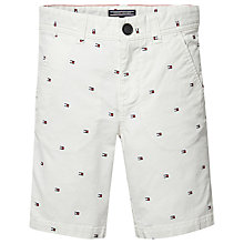 Buy Tommy Hilfiger Boys' Flag Print Chino Shorts, White Online at johnlewis.com