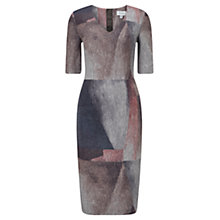 Buy Jigsaw Architect Shadow Flannel Wool Dress, Grey Online at johnlewis.com