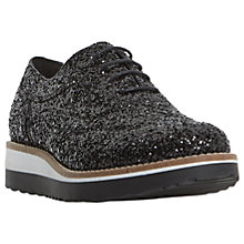 Buy Dune Fleek Glitter Flatform Shoes Online at johnlewis.com