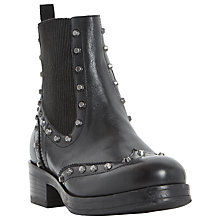 Buy Dune Prism Studded Block Heeled Ankle Boots, Black Online at johnlewis.com