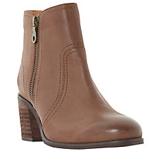 Buy Dune Pryce Block Heeled Ankle Boots, Brown Online at johnlewis.com