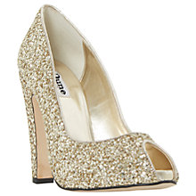 Buy Dune Discoo Occasion Peep Toe Cone Heeled Sandals Online at johnlewis.com
