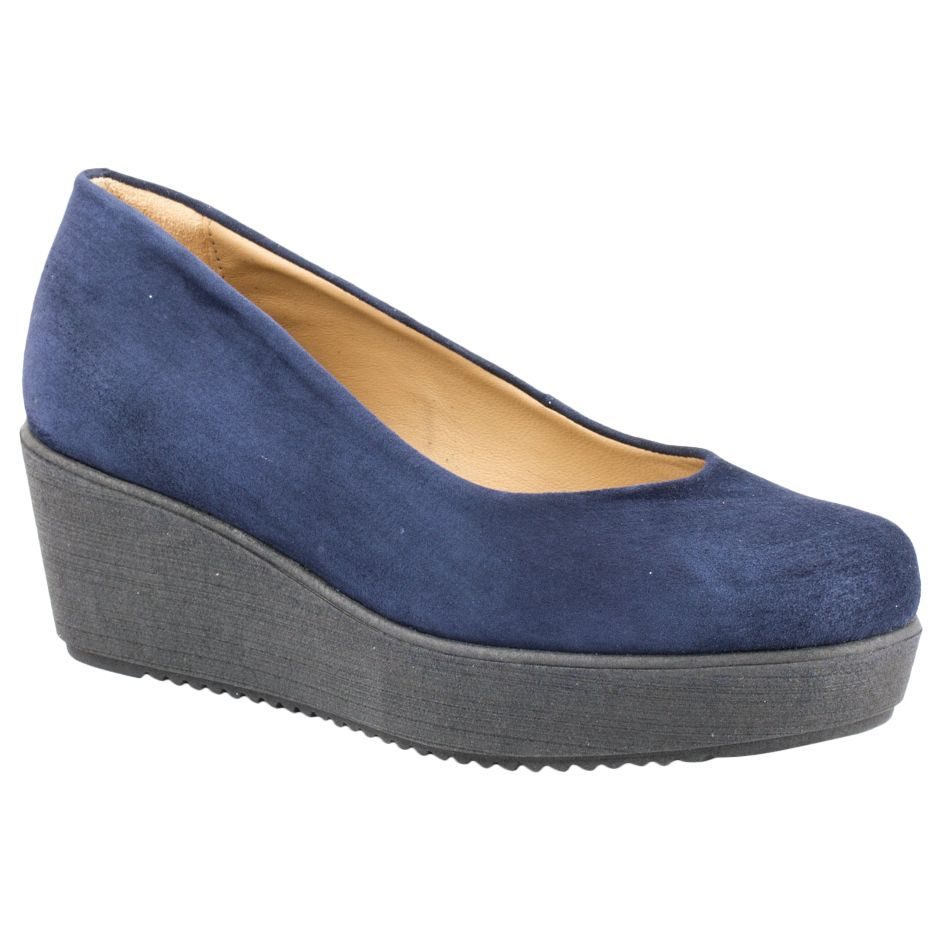 Unisa Unisa Forano Flatform Court Shoes, Navy