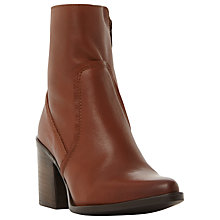Buy Steve Madden Peaches Block Heeled Ankle Boots, Tan Online at johnlewis.com