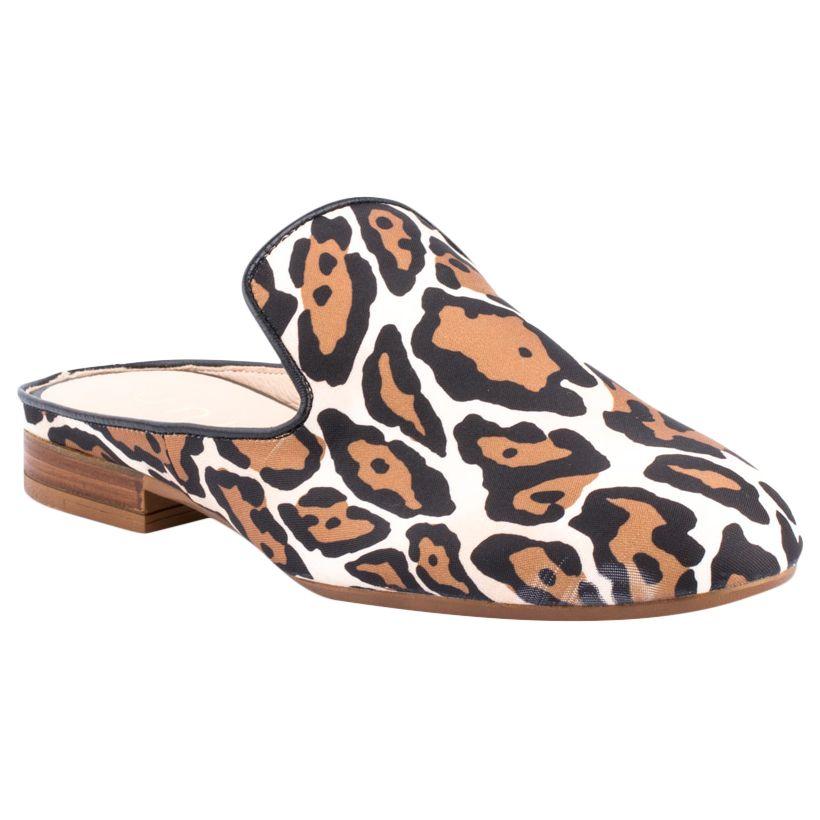 Unisa Unisa Dewey Open Back Mule Loafers, Natural Leopard