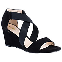 Buy Unisa Diana Wedge Heeled Sandals, Black Online at johnlewis.com