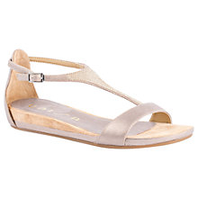Buy Unisa Apice T-Bar Sandals, Metallic Online at johnlewis.com