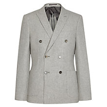 Buy Reiss Carlo Double Breasted Blazer, Light Grey Online at johnlewis.com