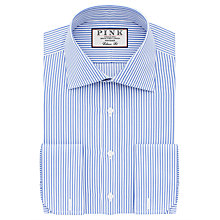 Buy Thomas Pink Grant Classic Fit XL Sleeve Double Cuff Stripe Shirt, Pale Blue/White Online at johnlewis.com