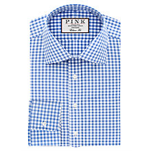 Buy Thomas Pink Summers Check Classic Fit XL Sleeve Shirt, Pale Blue/White Online at johnlewis.com
