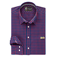 Buy The Lions Collection by Thomas Pink Fletcher Check Classic Fit Shirt, Navy/Red Online at johnlewis.com