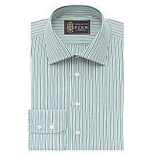 Buy The Lions Collection by Thomas Pink Macmyn Stripe XL Sleeve Slim Fit Shirt, Navy/Green Online at johnlewis.com