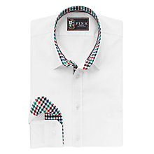 Buy The Lions Collection by Thomas Pink Freeman Plain Classic Fit Shirt, White/Multi Online at johnlewis.com