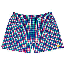 Buy The Lions Collection by Thomas Pink O'Brien Cotton Check Boxer Shorts, Multi Online at johnlewis.com