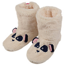 Buy Fat Face Children's Panda Boot Slippers, White Online at johnlewis.com