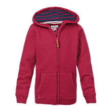 Buy Fat Face Girls' Graphic Owl Print Hoodie, Red Online at johnlewis.com