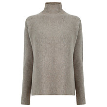Buy Warehouse Boxy Turtle Neck Jumper, Beige Online at johnlewis.com
