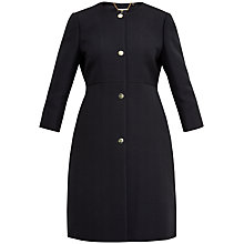 Buy Ted Baker MAREAA A-Line Coat, Black Online at johnlewis.com
