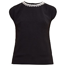 Buy Ted Baker Paree Embellished Neckline Top Online at johnlewis.com