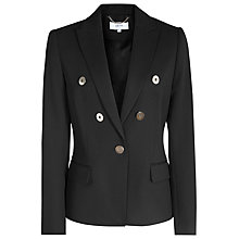 Buy Reiss Matilda Short Contrast Jacket, Black Online at johnlewis.com