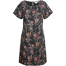 Buy Fat Face Annie Trailing Poppies Dress, Black Online at johnlewis.com