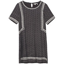Buy Fat Face Ruby Embroidered Dress, Phantom Online at johnlewis.com