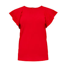 Buy Ted Baker Zefori Frill Sleeve Top Online at johnlewis.com