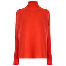 Buy Warehouse RIbbed Boxy Turtleneck Jumper Online at johnlewis.com
