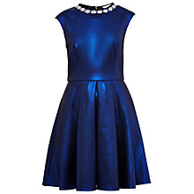 Buy Ted Baker Ayma Embellished Neck Dress, Mid Blue Online at johnlewis.com