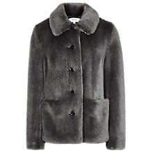 Buy Reiss Alexia Faux Fur Coat, Grey Online at johnlewis.com