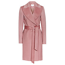 Buy Reiss Forbes Textured Coat, Rose Pink Online at johnlewis.com