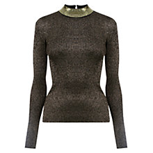 Buy Oasis Sequin And Sparkle Turtle Neck Top Online at johnlewis.com