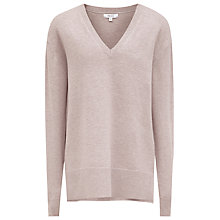 Buy Reiss Selma V Neck Jumper, Oatmeal Online at johnlewis.com