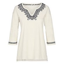 Buy Fat Face Bantham Embroidered Top, Ivory Online at johnlewis.com