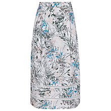 Buy Reiss Rennie Volume Print Skirt, Multi Blue Online at johnlewis.com