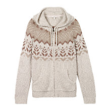 Buy Fat Face Alice Textured Hoodie, Ivory Online at johnlewis.com