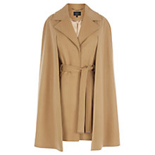 Buy Coast Ostaria Cape Coat, Camel Online at johnlewis.com