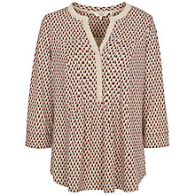 Buy Fat Face Pleat Gypset Foulard Top, Ivory Online at johnlewis.com