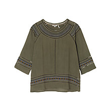 Buy Fat Face Sophia Embroidered Blouse Online at johnlewis.com
